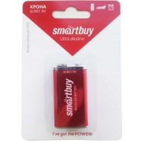 Батарейка 6F22 (крона 9V) Smartbuy Alkaline 6LR61